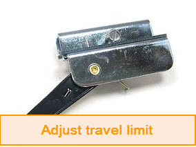 The second way to adjust travel limit \u2013 using switches