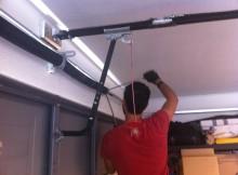 installation of a garage door