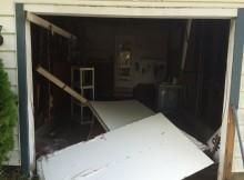 old one piece garage door over to a sectional roll up garage door