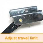 adjust travel limit garage door opener